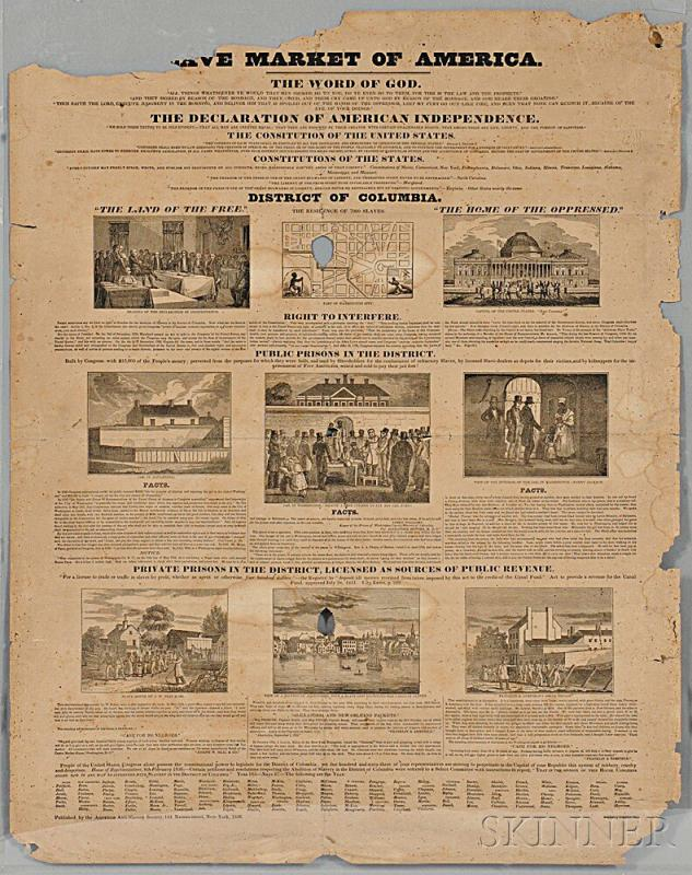 Lot 69     Slave Market of America , Broadside.