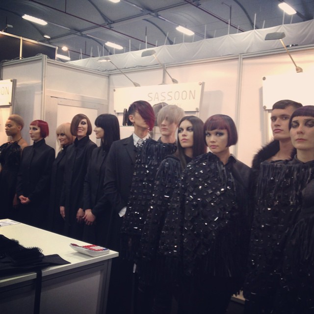 Beautiful hair work at Hair Expo by The Sassoon team! #barberellahair