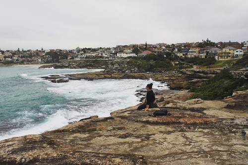 Reflecting.Coastal Walk from Bondi to Coogee Beach in Australia 2015