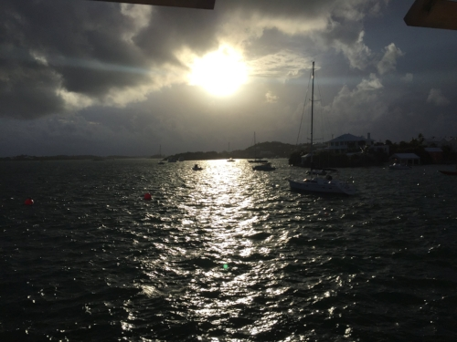 Sunset from 1609 Restaurant in Hamilton, Bermuda