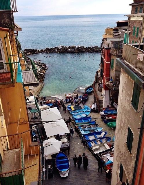 Riomaggiore's marina // Cinque Terre