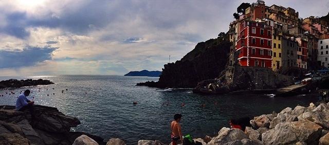 The harbor in Riomaggiore // Cinque Terre