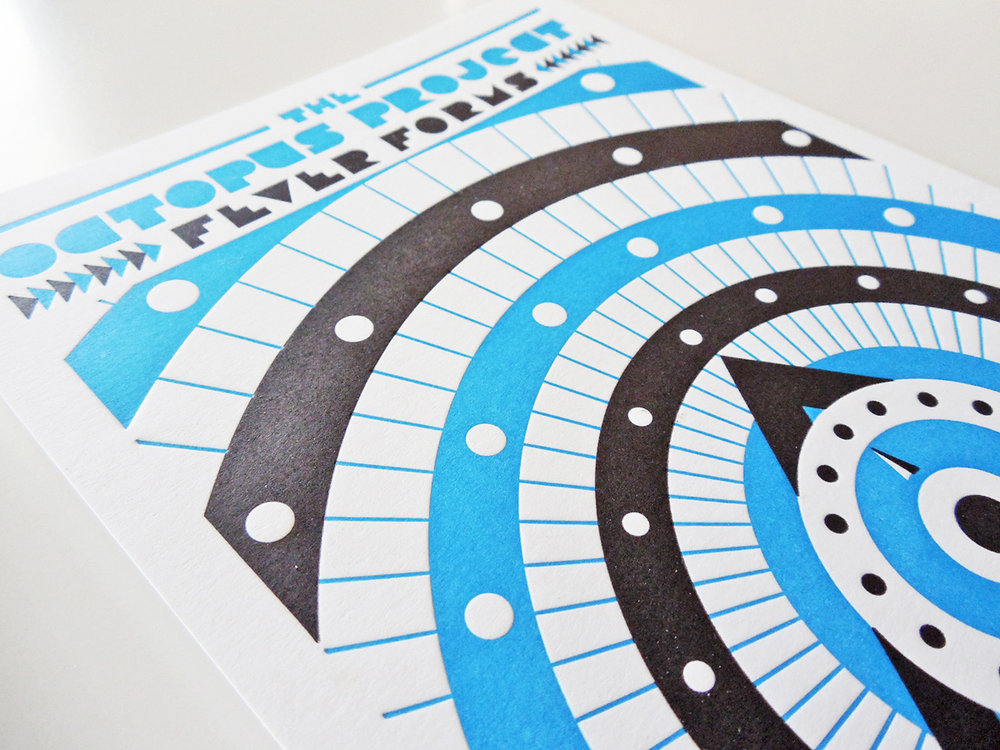 Promo card for Octopus Project's release Fever Forms.
