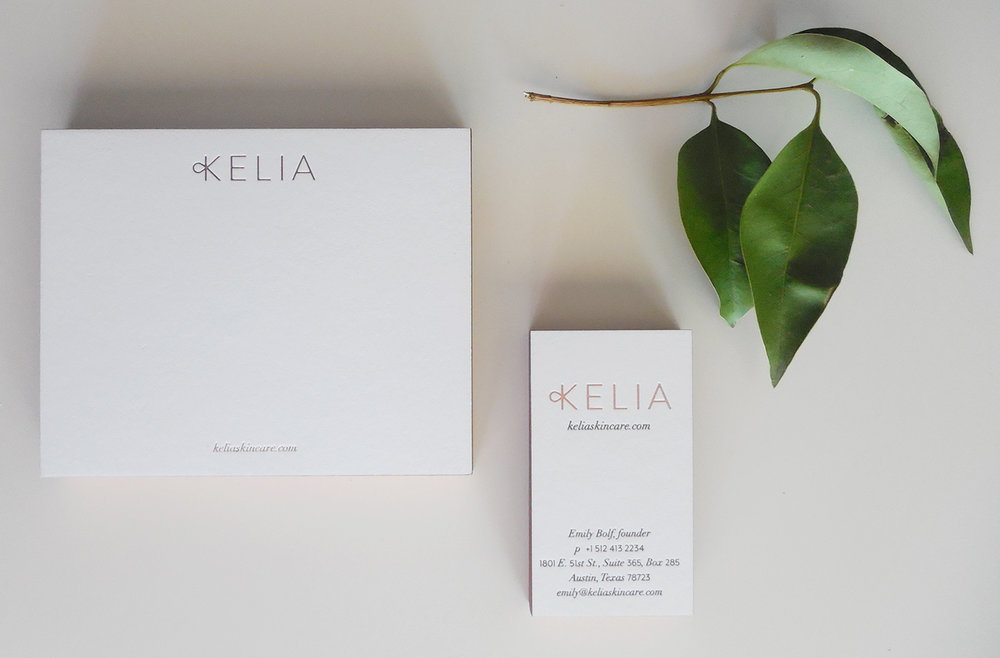 Sustainably source, locally owned skin care line Kelia.