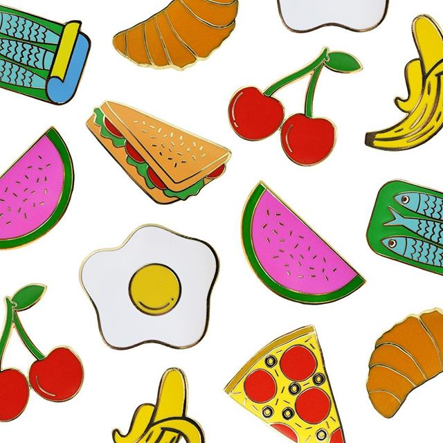 FOOD glorious FOOD! No matter what your flavour, we have a lapel pin for you! 👉🏽📍