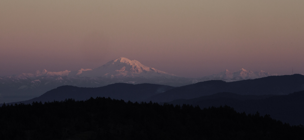 Mt. Baker from Salt Spring Island