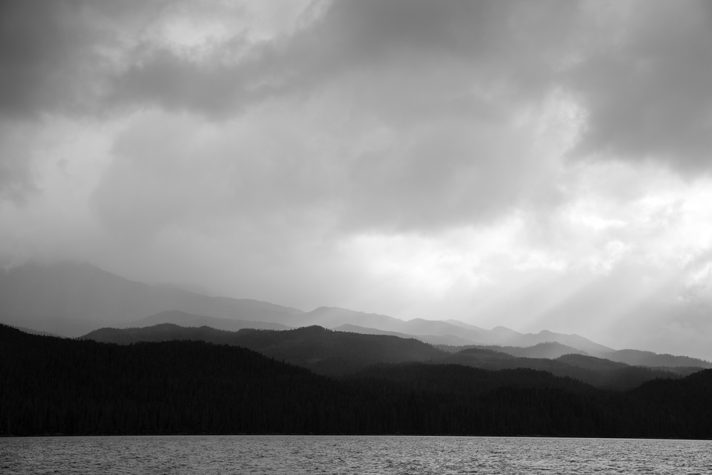 Calvert Island basks in coastal rains and the cloud dance of late evening light.