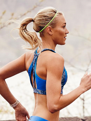 How cute is this Revolve Stunner Bra from Athleta? It'd be perfect for running on hot, summer days.