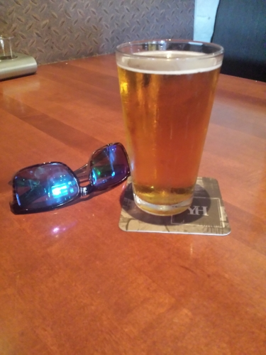 Beer+sunglasses=happiness.