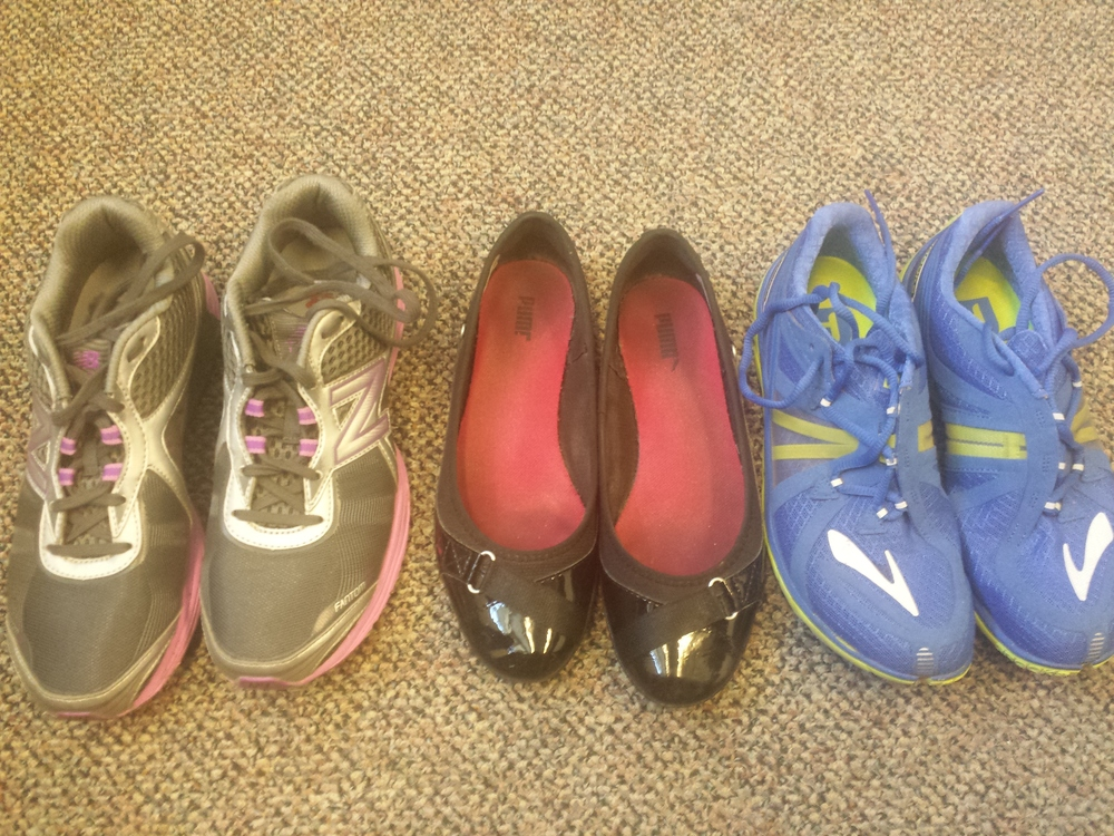 Walking shoes, work shoes and running shoes. I'm starting to think I have a problem.