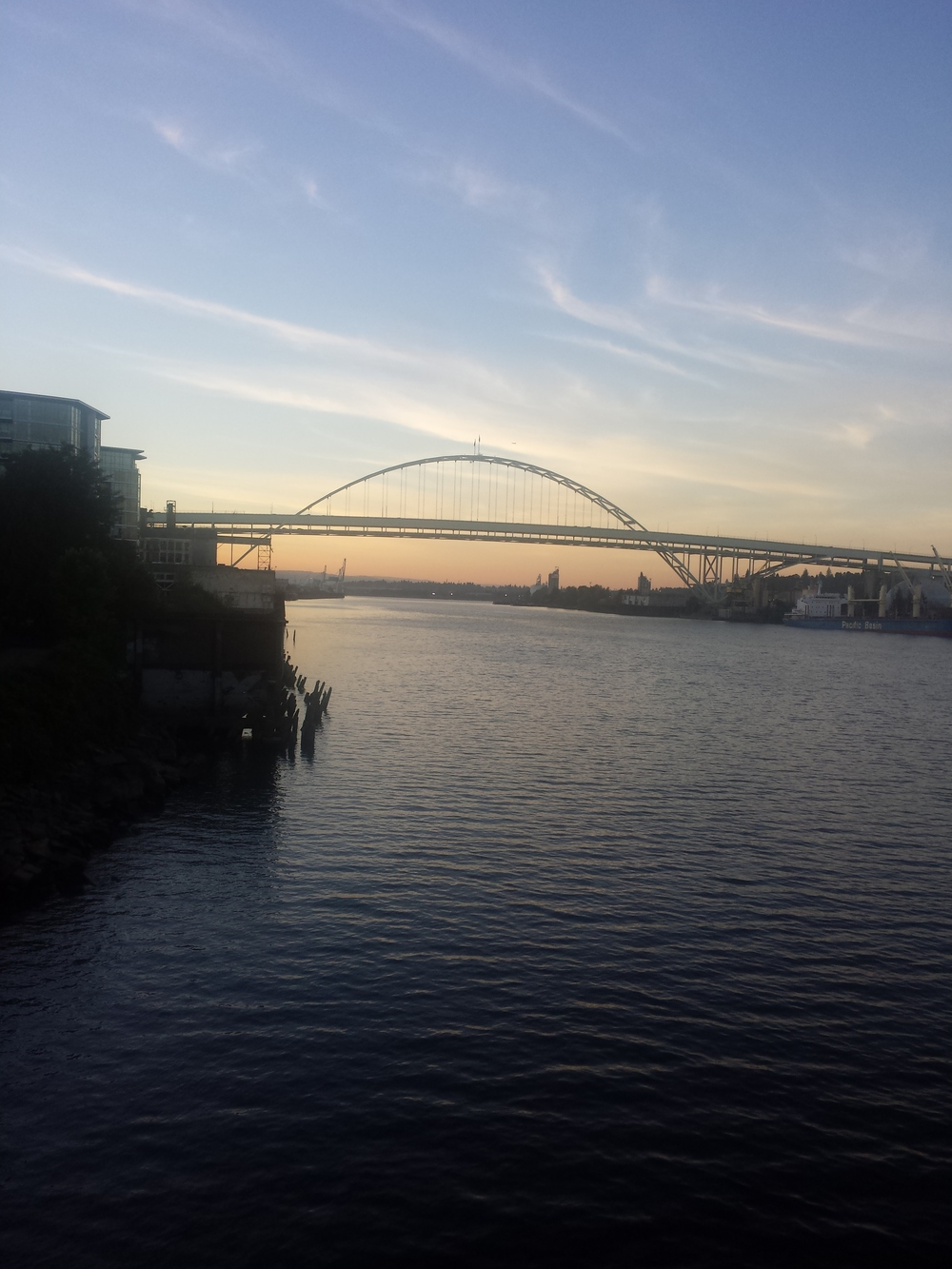 Love the view of the Fremont Bridge at sunset. Best running spot ever!