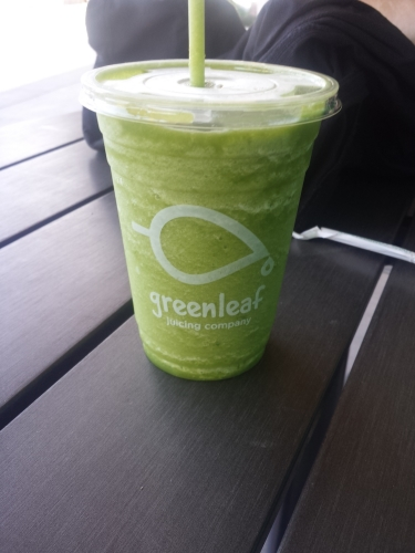 I'm pretty sure this is a Green Solution smoothie. Can't fully remember though. I've tried several of them. All delicious.