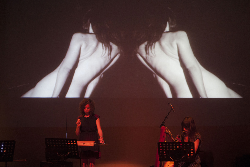 Beatrijs De Klerck (theremin) Margaret Hermant (harp) Siet Rae x 2 (on screen)