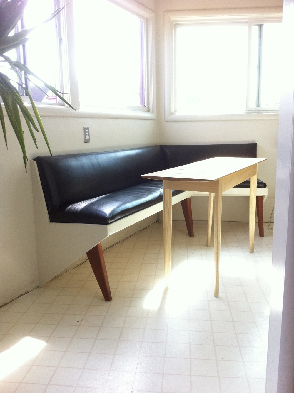 BANQUETTE + POPLAR TABLE