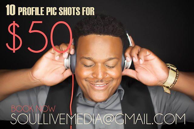 #soullivemedia #sale #profilepics #booknow Soullivemedia@gmail.com