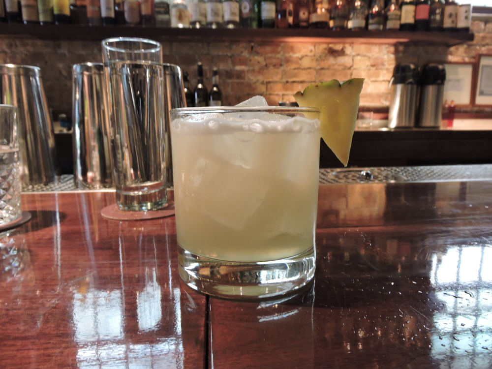 Traditional Pisco Punch - Peruvian Pisco, pineapple gum, lemon, distilled water
