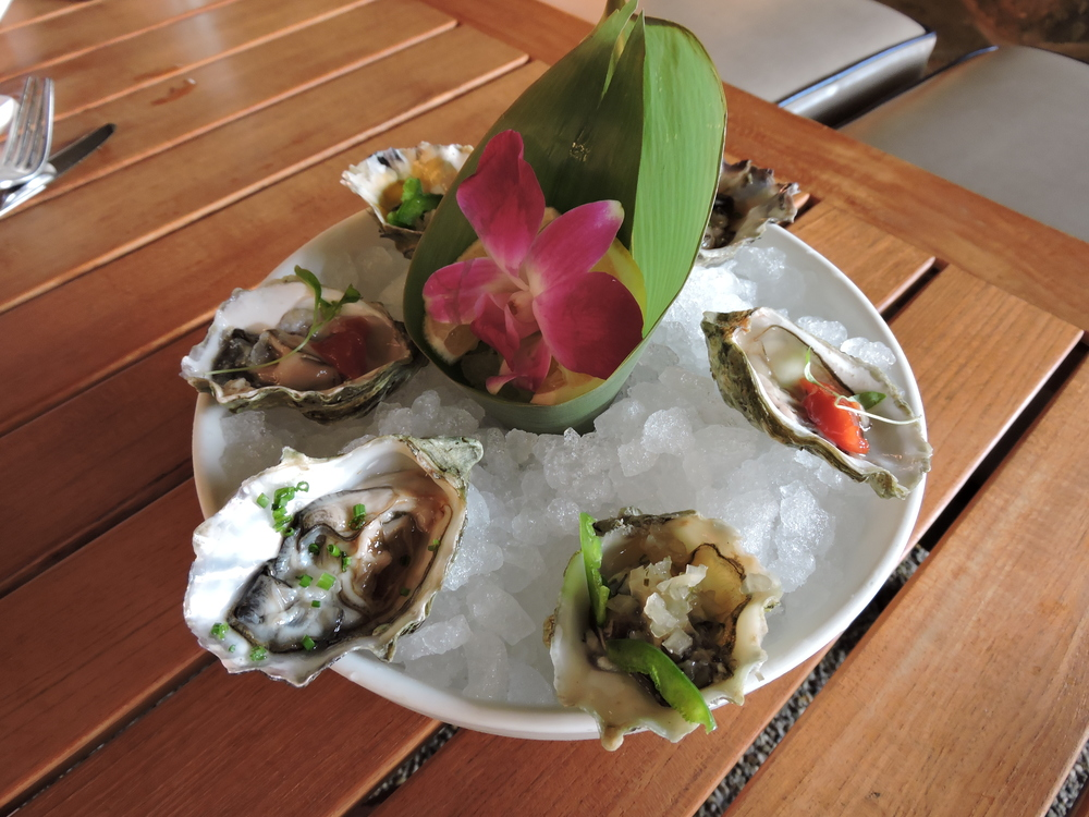 Market Oysters  with signature sauces