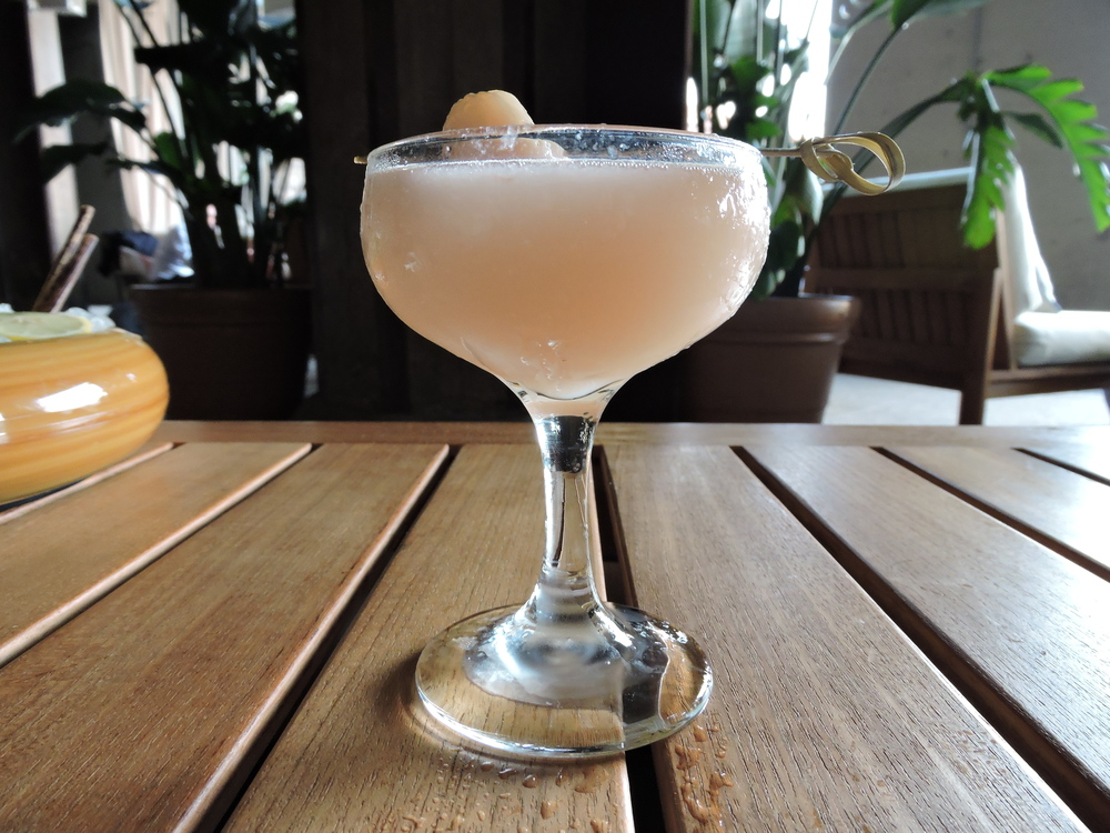 Serenity - house made lychee - cello, nigori sake, ruby red grapefruit, lemon juice, rosewater