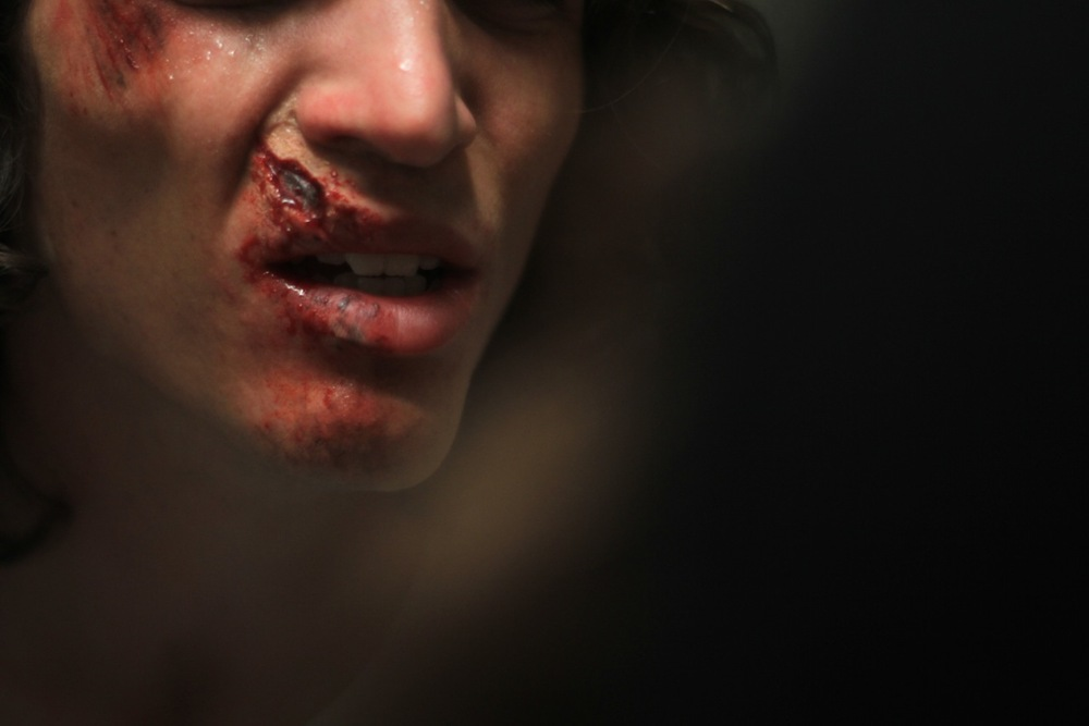Christina Cofran, Special FX, Makeup Artist, injury, laceration, cut, accident, busted lip 001.jpg