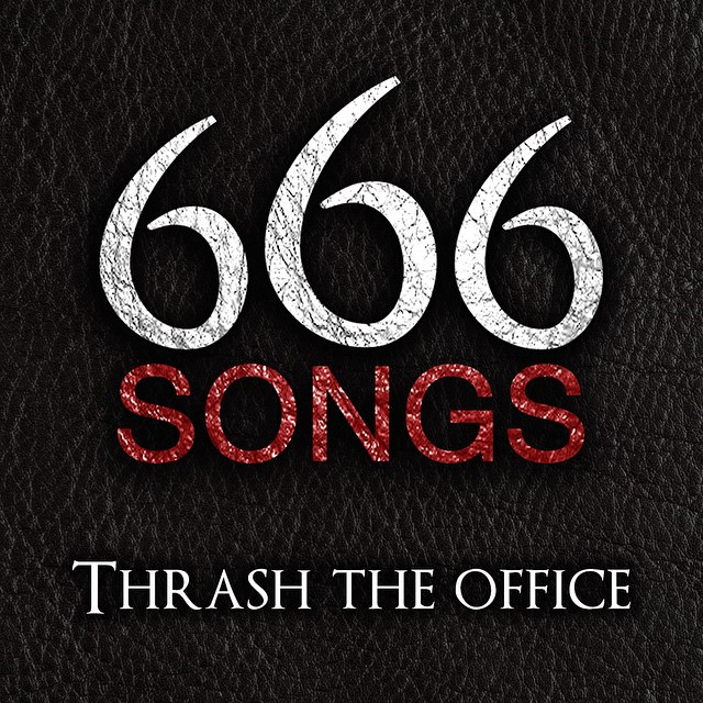 "Listen to our new Spotify playlist ""Thrash The Office"" and release your anger! #metal #office #anger"