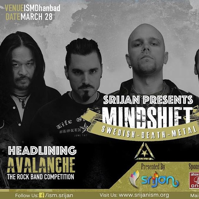 Mindshift is going to headline ISM Srijan Avalanche in India on March 28th!