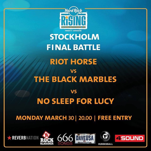 Don't forget the final battle of Hard Rock Rising at Hard Rock Cafe Stockholm tonight! #battle #metal #live #music