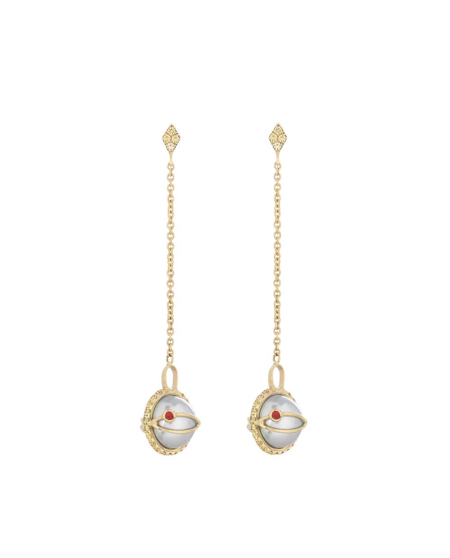 iKuria: Laika grey akoya pearl drop earrings - Hiphunters Shop