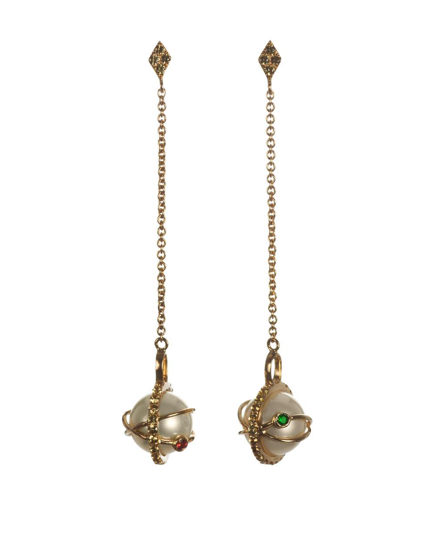 iKuria: Laika white pearl drop earrings - Hiphunters Shop