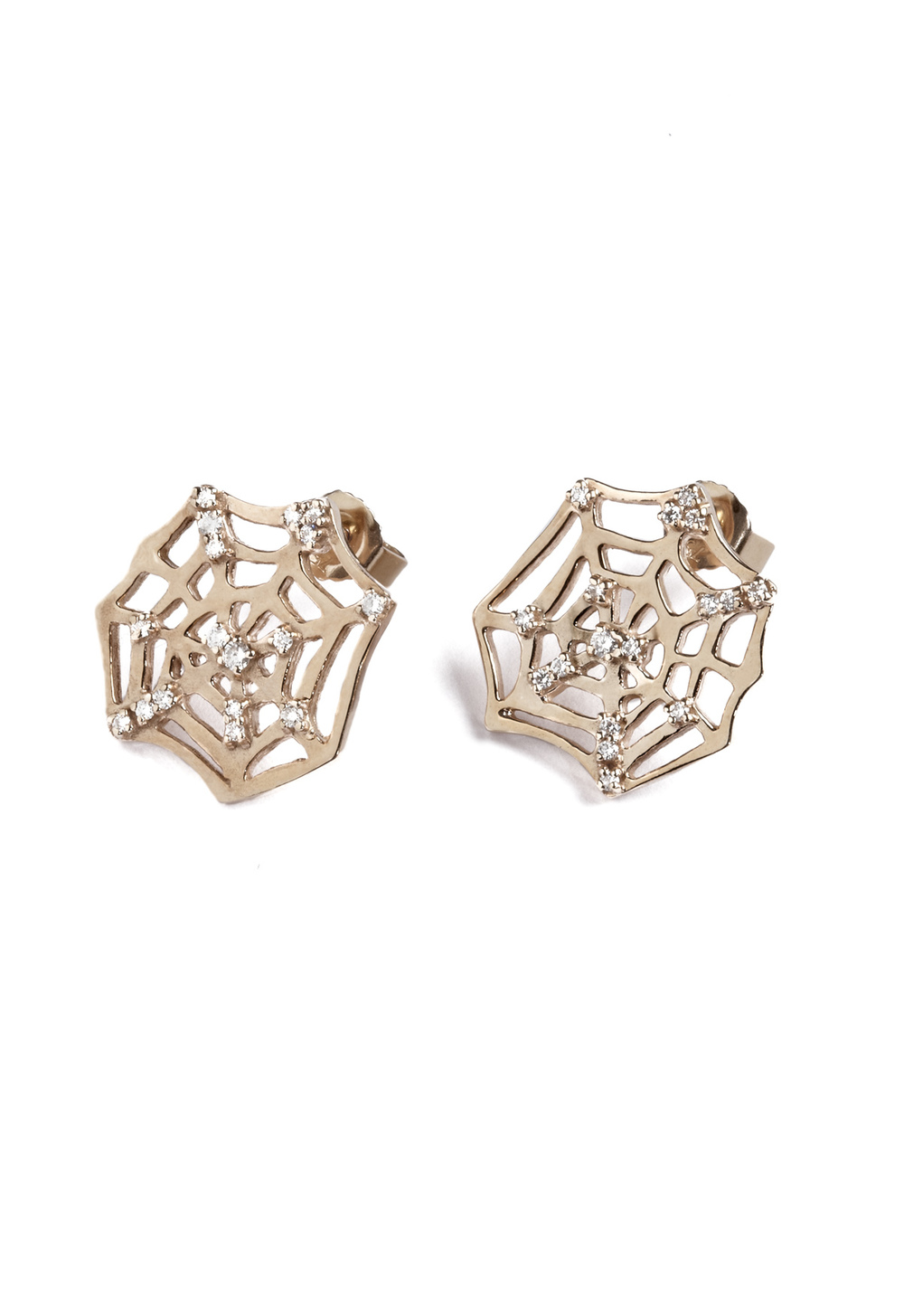 iKuria: CATCH rose gold and diamond earrigs - Hiphunters Shop