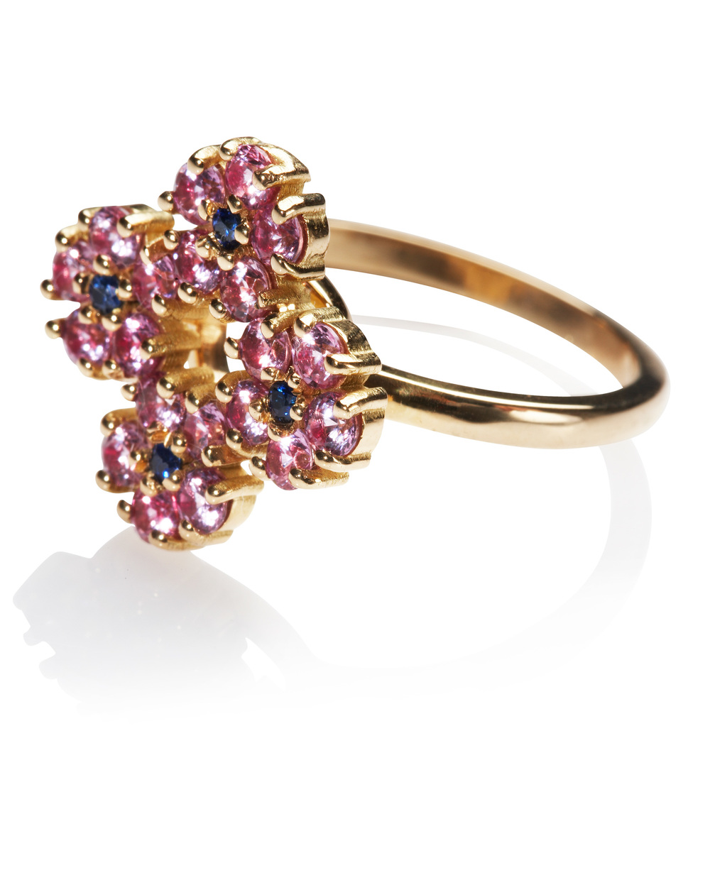 Hannah yellow gold cocktail ring