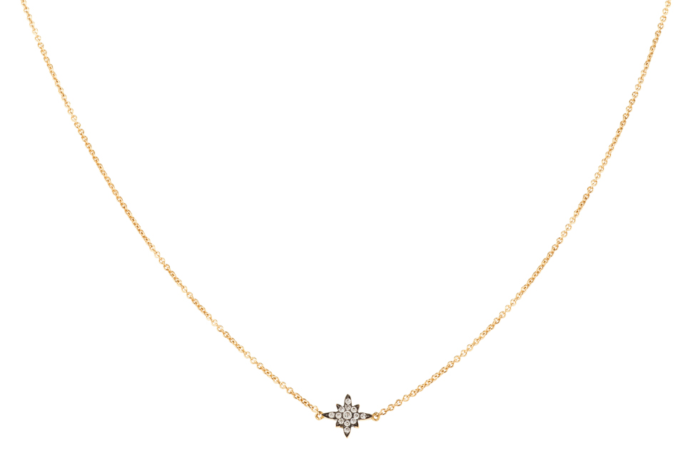 Laika Sirius necklace made of 18k yellow gold and diamond ライカコレクションの「シリウス」ネックレス