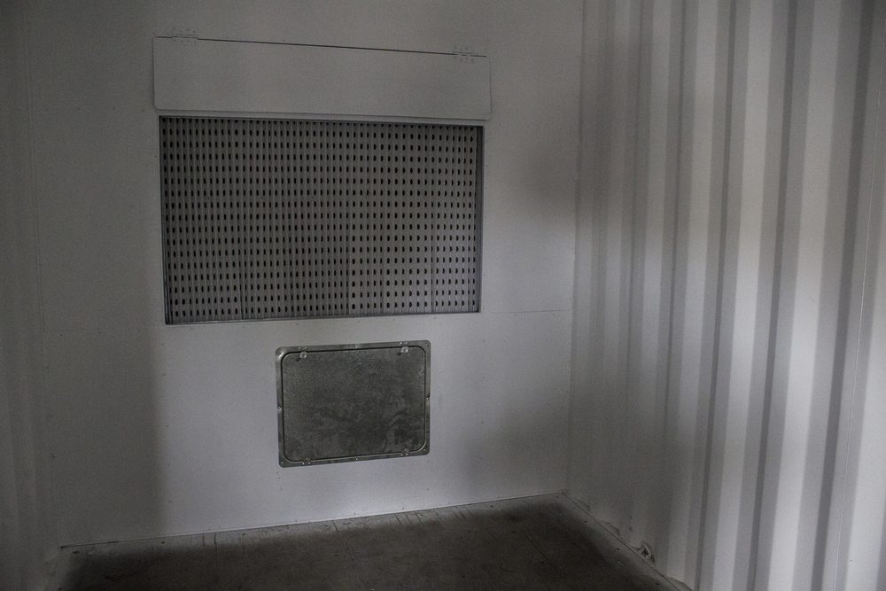 Inside of spray booth with extraction