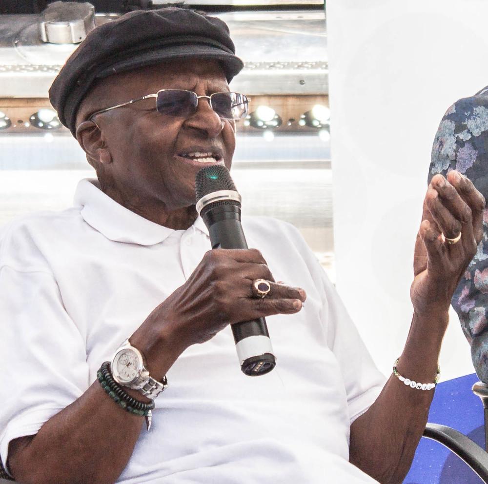 Archbishop Desmond Tutu giving opening speach