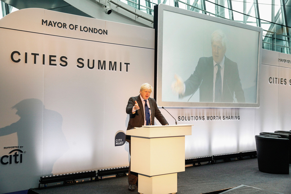 Mayor of London, Boris Johnson, opening our Cities Summit in London (June 2014)