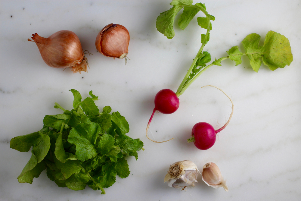 Don't toss those beautiful radish greens!