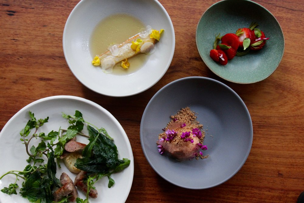 The gorgeous array of wild-inspired ingredients from  The Perennial  for WFFW 2016.
