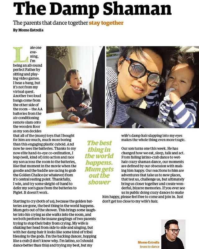 A short thing I wrote last month for a parenting magazine. A tale of a crying baby and a dancing mama. 😬