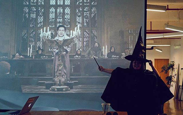 The last act of magic in the great hall.