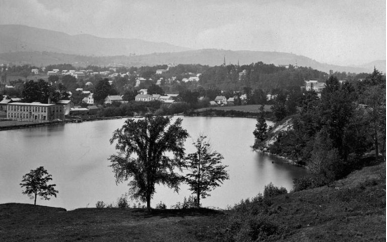 Photograph of Loop, Hopkins and Company and the millpond circa 1885, courtesy Williamstown Historical Museum