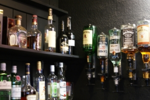 Selection of spirits and whiskey available at The Crescent Pub Salford