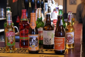 Range of bottles cider and beer international foreign at The Crescent Pub Salford