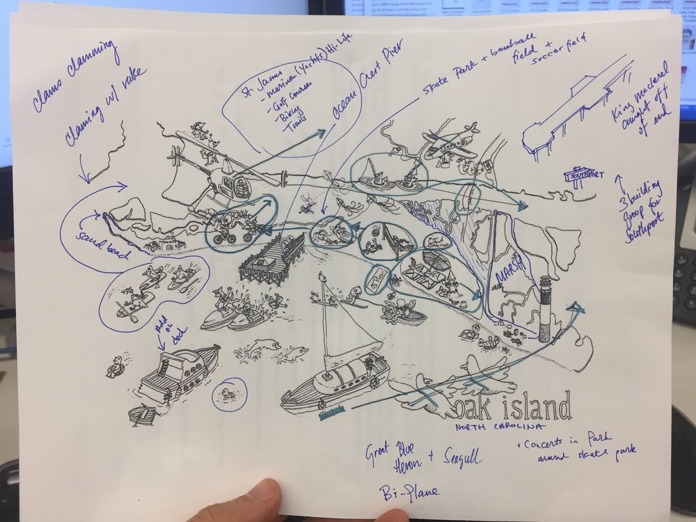 oak island map with changes billy simons drawing