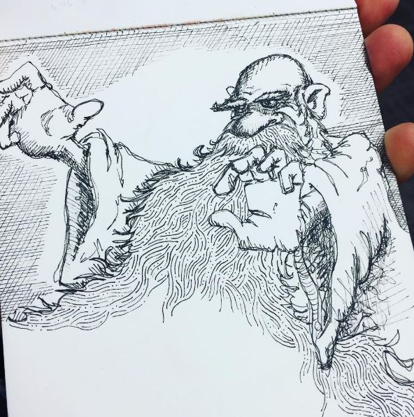 wizard billy simons sketch beard magic