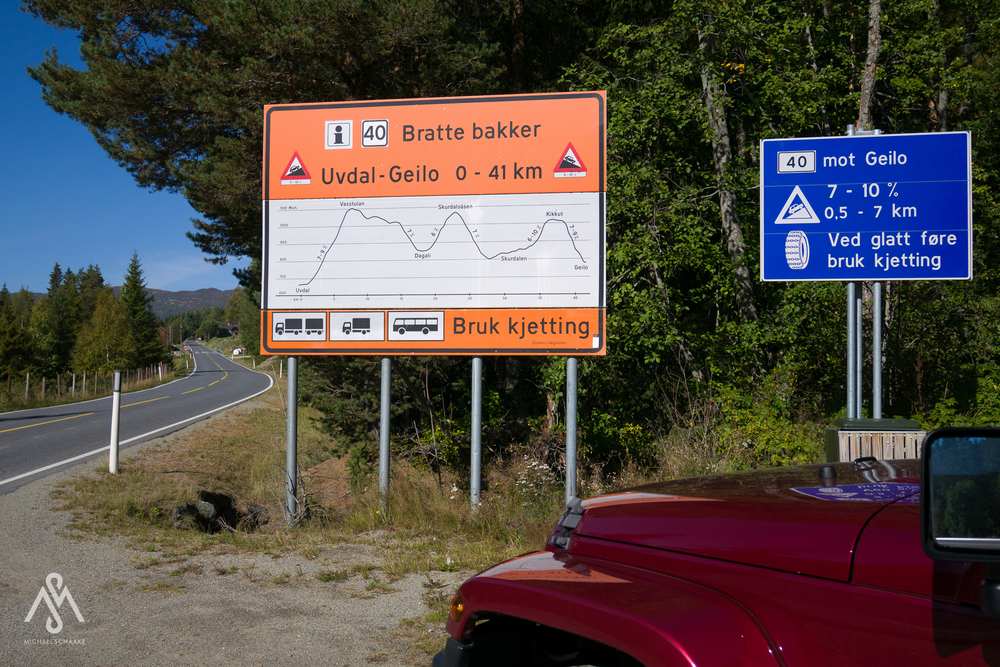 When you see these signs you know you arrived in Norway.