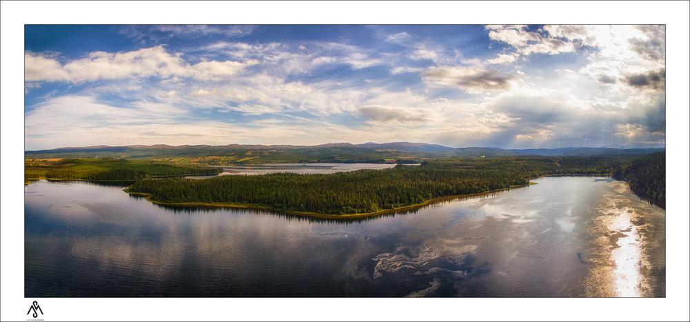 Der See Östra Noren
