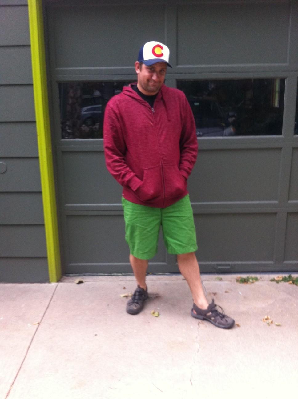 hilariously bad fashion on our daily walks around the neighborhood