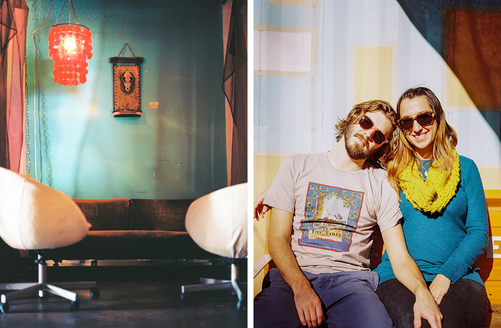 Inside and outside Rio Rita Lounge