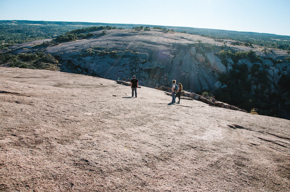 coming down from Enchanted Rock