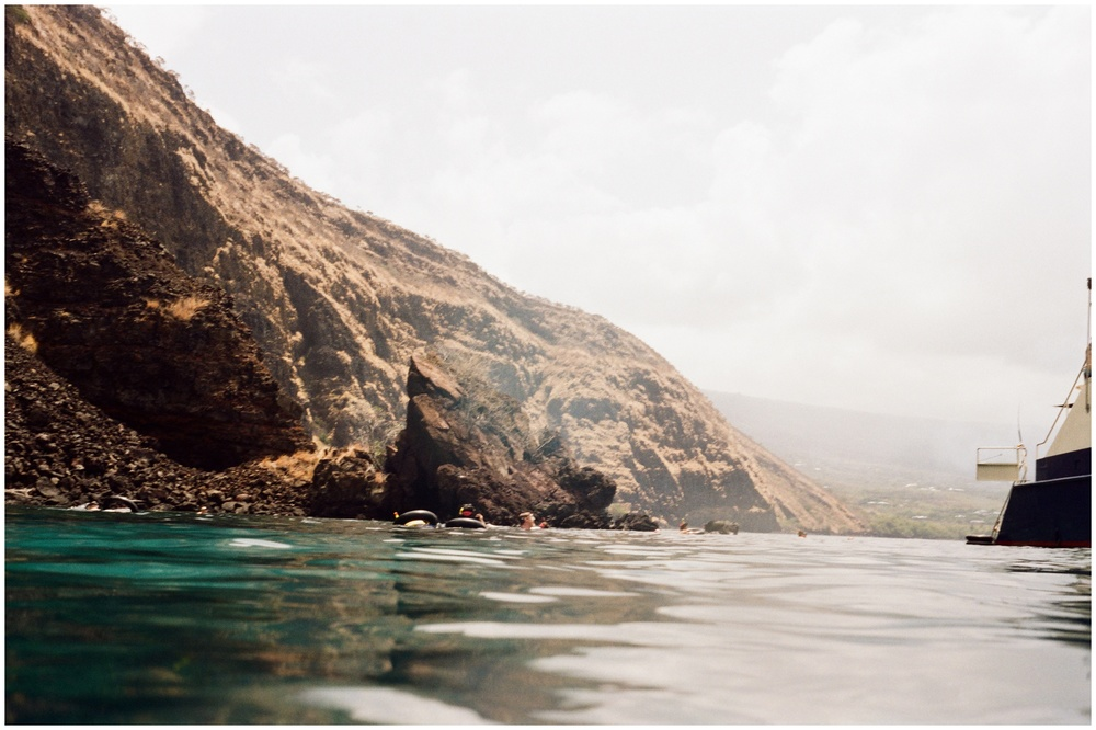Kealakekua Bay State Historical Park in Hawaii. Film photography by Sonja Salzburg of Sonja K Photography.