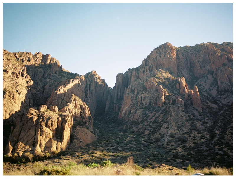 Rock formations near the Chisos Basin Campground in Big Bend National Park in west Texas. Travel and landscape photography by Sonja Salzburg of Sonja K Photography.